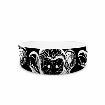 "Maria Bazarova ""Monkey"" White Animals Pet Bowl"