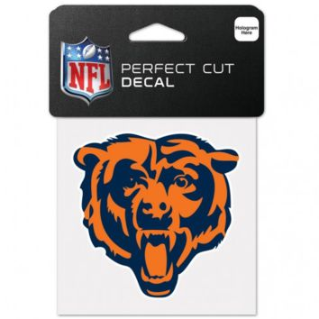 Chicago Bears Bear Head Logo Perfect Cut 4X4 Decal By Wincraft