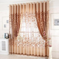 European Luxury Window Curtains for Living Room Royal Sheer