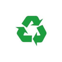 Recycling Symbol Green Bumper Sticker Window Laptop Car Decal Vinyl Ipad