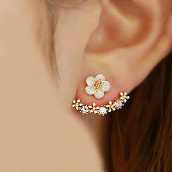 Chic Womens Small Daisy Flowers Hanging Earrings Best Gift