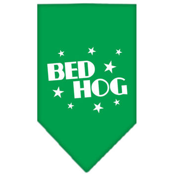 Bed Hog Screen Print Bandana Emerald Green Large