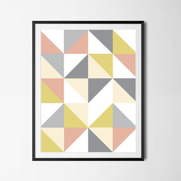 Geometric Poster, Abstract Poster,Geometric Art, Abstract Poster, Wall Art, Home Decor