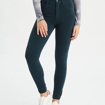 AEO Denim X4 Super Hi-Rise Jegging, Teal