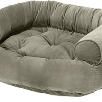Bowsers Sage Microvelvet Double Donut Dog Bed