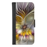 Abstract Colorful Fantasy Flower Modern Fractal iPhone 8/7 Wallet Case