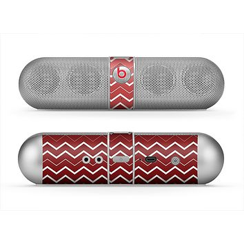 The Red Gradient Layered Chevron Skin for the Beats by Dre Pill Bluetooth Speaker