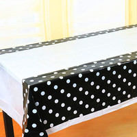 Dot Disposable Plastic Table Cloth Birthday Party Decoration Kids Baby Shower Decoration Supplies Party Disposable Tablecloth
