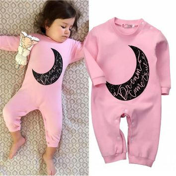 New Arrival Autumn Clothes Newborn Kids Baby Girls Infant Long Sleeve Romper Jumpsuit Outfits Clothes 0-24M