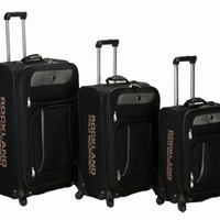 Rockland Luggage Navigator Spinner Polo Equipment 3 Piece Luggage Set