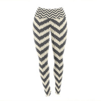 "Amanda Lane ""Moonrise Chevron ikat"" Yoga Leggings"