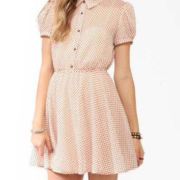 FOREVER 21 Swiss Dot Georgette Dress