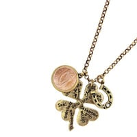 Lucky Language Irish Coin Pendant