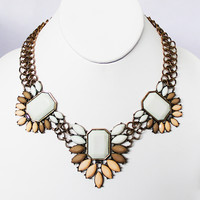 Ivory Winter Flower Necklace