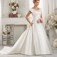Bonny Bliss 2418 Simple A-Line Wedding Dress