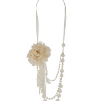 Pearlescent Tulle Swag Necklace