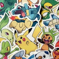 Pokemon starters sticker pack from Stickerama