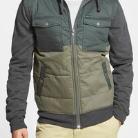 Men's RVCA 'Bedblock' Colorblock Quilted Corduroy Jacket