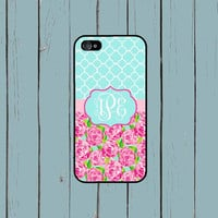 iPhone 6 Case iPhone 6 Plus  iPhone 5S Case Lilly Pulitzer Inspired Monogram iPhone 5 Case iPhone 4 Case iPhone 4S Case iPhone 5C Case