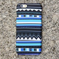 Blue Tribal iPhone 6 6s Case iPhone 6 plus Case Geometric iPhone 5S 5 iPhone 5C Case Retro Samsung Galaxy S6 edge S6 S5 S4 Note 3 Case 033