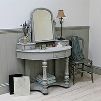 Elegant Demi Lune Dressing Table