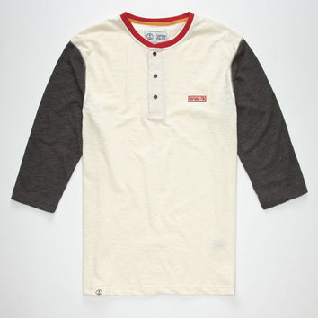 Captain Fin Finkle Mens Henley Cream  In Sizes