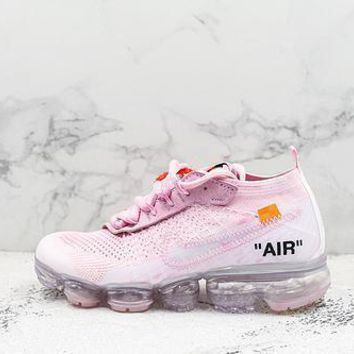 Off White X Nike Air Vapormax Flyknit 2.0 White Pink
