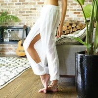 Ahoy Gypsy Pants in White by Le Salty Label