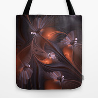 Pearls, Abstract Fractal Art Tote Bag by gabiw Art | Society6