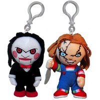 Horror Chucky and Saw Puppet Clip-On Plush Set - Mezco Toyz - Horror - Plush at Entertainment Earth