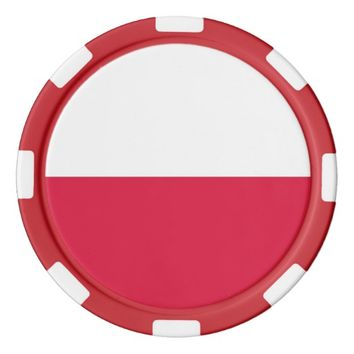 Poker chips with Flag of Poland