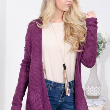 Fairy Purple Knit Cardigan