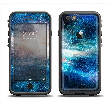 The Blue & Gold Glowing Star-Wave Apple iPhone 6 LifeProof Fre Case Skin Set
