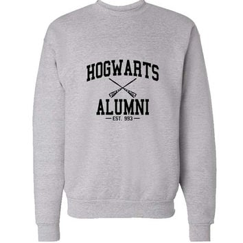 hogwarts alumni sweater Gray Sweatshirt Crewneck Men or Women for Unisex Size with variant colour