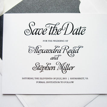 Simple Elegant Save the Date Card - DEPOSIT