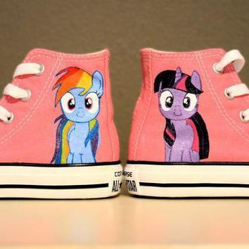 my little pony rainbow dash twilight sparkle hand painted chuck taylor converse