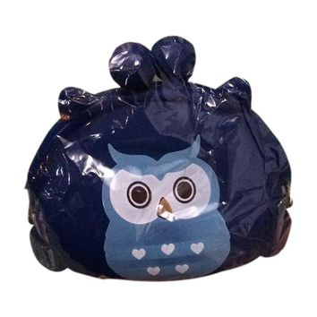 Girl's Cartoon Owl Silicone Jelly Wallet Bag Keys Coin Purse(blue)