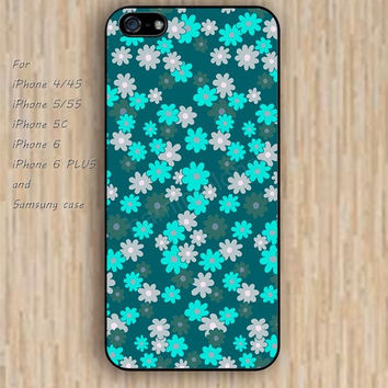 iPhone 6 case colorful blue Small Chrysanthemum lighting iphone case,ipod case,samsung galaxy case available plastic rubber case waterproof B078