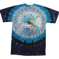 Led Zeppelin Swan Song Tie Dye Short Sleeve Shirt Size 2XL