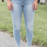 Super Light Raw Ankle Jeans