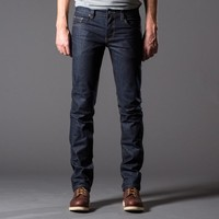 [Dstld Slim] Slim Raw Jeans in Indigo Natural
