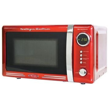 Nostalgia Electrics - Retro Series 0.7 Cu. Ft. Compact Microwave - Red