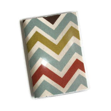 Passport Cover / Holder / Case - Chevron -- Village / Natural -- Zig Zag
