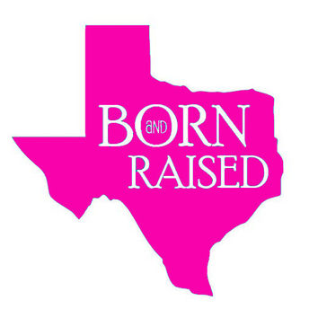 5 Texas State Born & Raised Vinyl decal Great for by OwlOutfitters