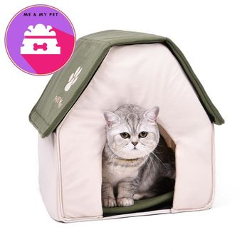 Foldable Pet Cat Cave House Cat Kitten Bed