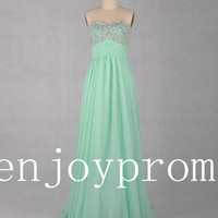 Sweetheart Beading Chiffon floor-Length Bridesmaid/Evening/Prom Dress