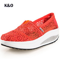 Women Fashion Casual Shoes 2016 New Breathable Platform Women's Shoes Summer Spring Zapatos Mujer Mesh Females Wedge Shoes