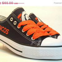 Denver Broncos Men Canvas Shoes