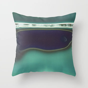 Instant Series: Teal Throw Pillow by Short Circuits & Folding Mirrors