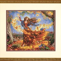 Dimensions Needlecrafts Counted Cross Stitch, Fall Fairy